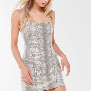 UO Size XS Textured Animal Snake Print Mini Dress